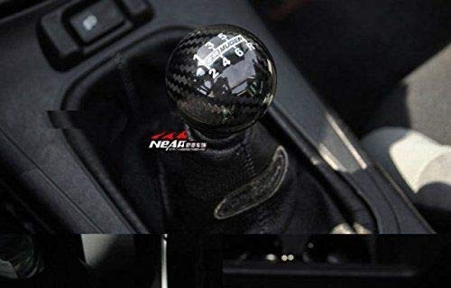 Mugen Carbon Fiber 6 Speed Shift Knob with Red Stripe