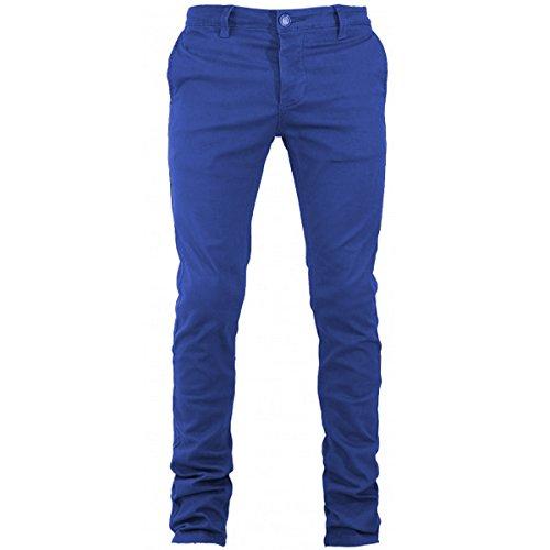 Cotone Vari Slim Pantalone Colori America Royal Uomo Elastico Blu Tasca Chino Giosal Mod nvY0TwTq