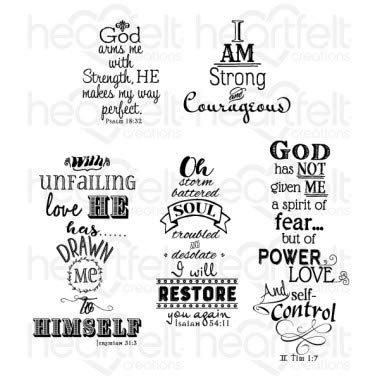 Heartfelt Creations Religious Cling Rubber Stamps Set of 3 with Motivational Scripture Verses, Inspirational Christian Quotes, Words of Encouragement | for Bible Journaling, Scrapbooking, Card Making by Generic (Image #6)