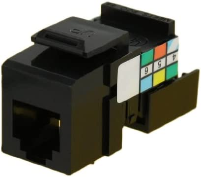Leviton 41106-RB6 USOC Voice Grade QuickPort Snap-In Connector Brown