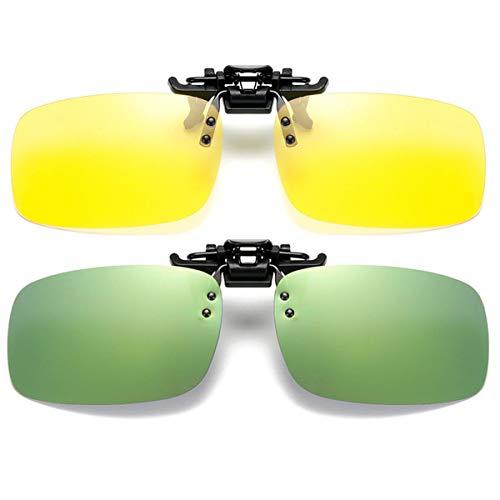 Zonnebril clip op Flip Up Night Vision glazen verblinding gepolariseerd voor mannen vrouwen UV400 beste voor rijden…
