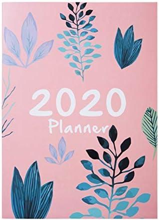 Tischkalender Kalendarien Notebook DIY Agenda täglich wöchentlich Jahresplaner A4 Notebooks Plan 2020 Organizer Büro Zeitplan Schulbedarf Stationery Buch (Color : Burgundy)