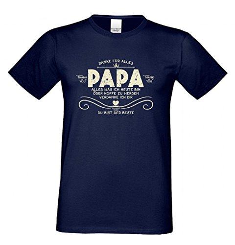 T-Shirt als Geschenk für den Vater - Du bist der Beste - Funshirt für den Papa mit Humor zum Vatertag oder einfach so, Größe 3XL Farbe 05-Navy