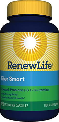 Renew Life Adult Fiber Supplement – Fiber Smart – Dietary Fiber – Gluten & Soy Free – 120 Vegetarian Capsules