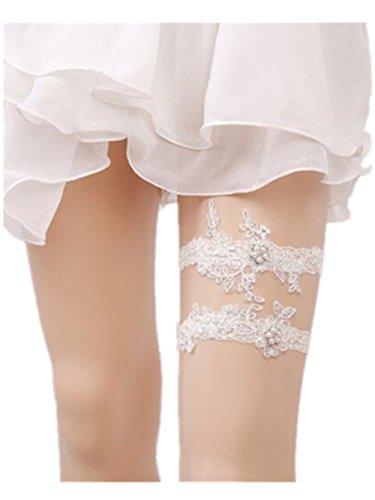 Bhwin Rhinestones Lace Wedding Bridal Garter Belt Set (E)