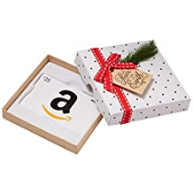 Amazon.ca $25 Gift Card in a Holiday Sprig Box (Classic White Card Design)