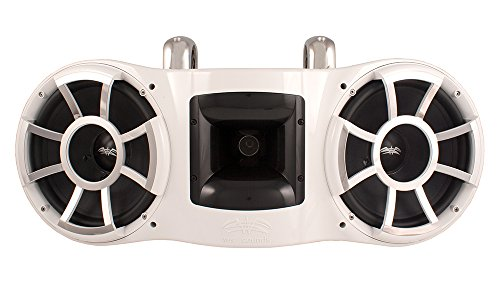 Wet Sounds Revolution Series Dual 10 inch EFG HLCD Tower Speaker - White w/ Fixed Clamp