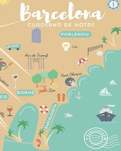 Barcelona Cuaderno De Notas Para Apuntes Universidad Trabajo