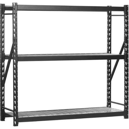 Edsal 72''H x 72''W x 24''D Steel Welded Storage Rack, Black by Edsal