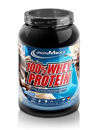IronMaxx 100% Whey Protein – 900g Dose – 18 Portionen – Schoko Kokos – Hochwertiges Eiweißpulver für Proteinshake auf…
