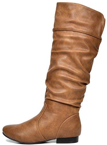 Blvd Pairs Knee High Camel Women's Boots wide Dream Calf calf wide beltran 7qwEqd