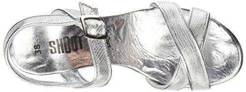 SHOOT Shoot Shoes Sh-160030cc Damen Sommer Keil Sandalette Wedges - Sandalias Mujer Plata