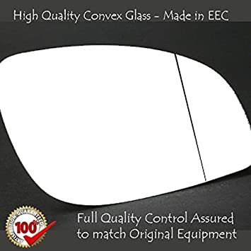 Wide Angle Wing Mirror Glass Replacement Driver Side Fits Year