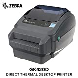 Zebra - GX420d Direct Thermal Desktop Printer for Labels, Receipts, Barcodes, Tags, and Wrist Bands - Print Width of 4 in - USB, Serial, and Ethernet Port Connectivity (Includes Cutter)