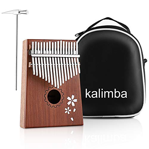 MINGPINHUIUS Kalimba 17 Key Thumb Piano, Mbira Thumb Drive Portable Chrimase Musical Instrument, Unique Christmas…