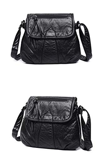 UltraZhyyne - Women Messenger Bags Crossbody Soft PU Leather Shoulder Bag Fashion Women Bags - Cell Valentino Black Phone