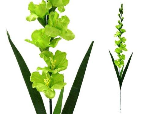 Efavormart 6 pcs Gladiolus Single Stems for Wedding Flowers Arrangements - Lime Green