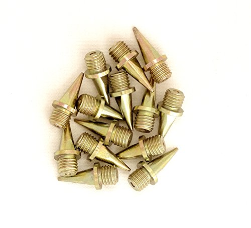 1/2 inch (12 mm) Gold-tone Track and Cross Country (1/2 Inch Spikes)