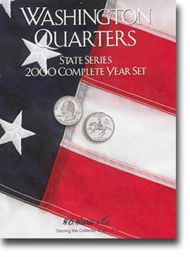 Harris Coin Folder – State Series Quarters Complete Year 2000 Ref#8HRS2583 by H.E. Harris
