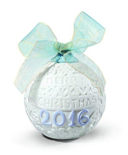Lladro 2016 Annual Christmas Ball Ornament - Porcelain Christmas Ball