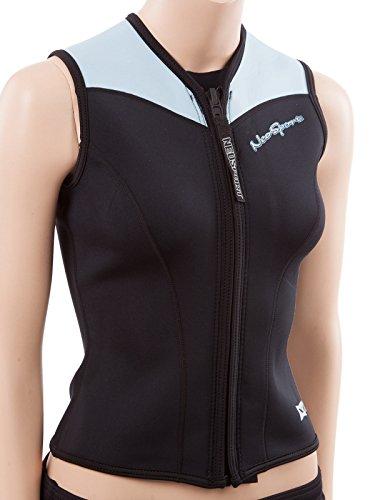 2.5mm Women's NeoSport XSPAN Wetsuit Vest - Front Zip in Blue - - Wetsuits Ladies In