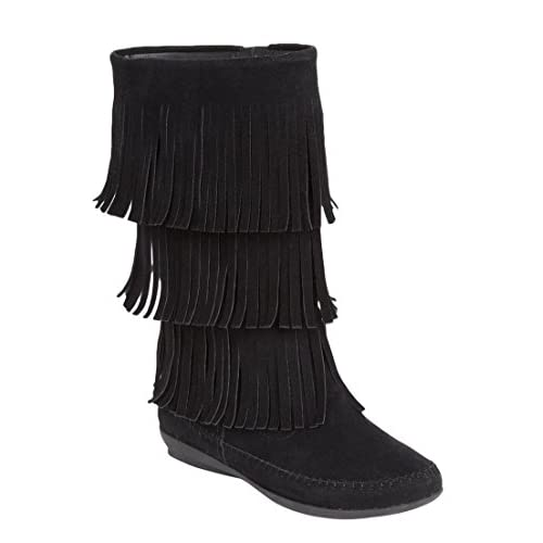 0b62b487ddb Comfortview Women s Wide Sherry Suede-Like Fringe Boot free shipping ...