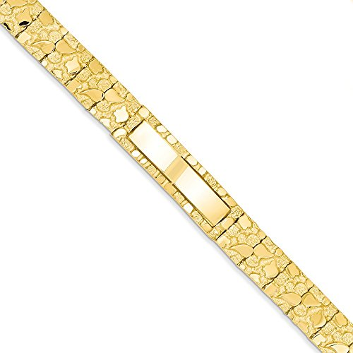14k 12.0mm Nugget ID Bracelet by CoutureJewelers