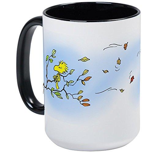CafePress - Windy Woodstock Large Mug - Coffee Mug, Large 15 oz. White Coffee Cup (Gang Coffee Cup Peanuts)