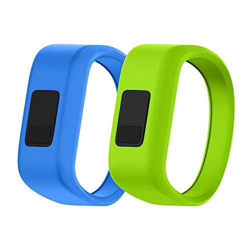 NotoCity Compatible Garmin Vivofit JR Watch Band Soft Silicone Replacement Bands for Garmin Vivofit JR/Vivofit JR 2/Vivofit 3 Smartwatch(2pcs-2, Small)