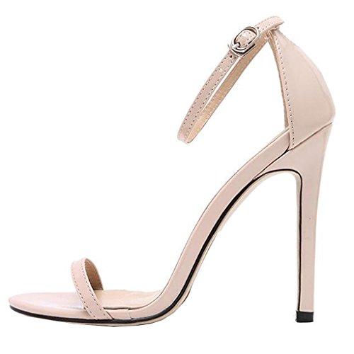 Lovirs Women's Open Toe Solid Color High Heels Cover Heel...