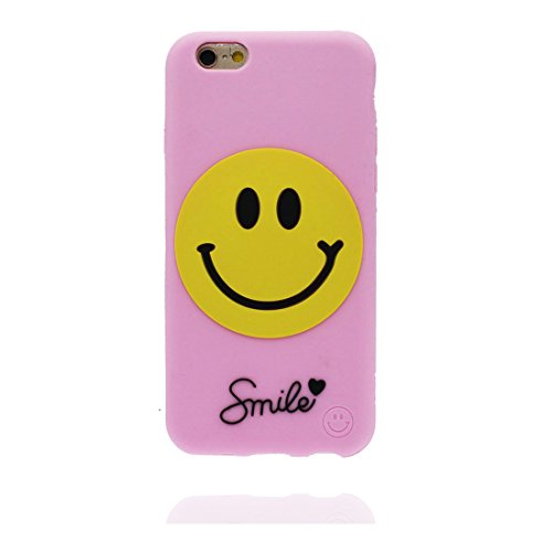 "iPhone 6 Plus Coque, étui iPhone 6s Plus Cover (5.5""), [ TPU durable flexible 3D Smiley ] iPhone 6 Plus Case (5.5 pouces), Gold Egg anti-chocs, des empreintes digitales et stylet"