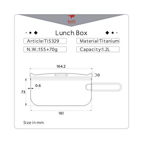 Keith Titanium Lunch Box (Ti5329) | Product US Amazon