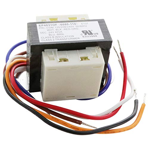 Endurance Pro 90-T40F3 Class 2 Transformers Thermostat Energy Limiting with Foot Mount, 24V Replacement for White Rodgers Emerson (240 Volt To 24 Volt Ac Transformer)