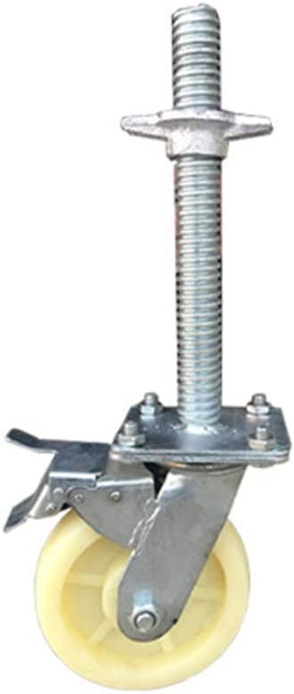 LYBC Industrial Castors Swivel Wheel Stem Casters Heavy Duty Caster gate Wheels with Brakes /Ø150mm,Loading 1000 lbs,Pack of 4,M270x30