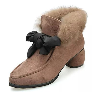 For Boots Black Women'S RTRY Fashion Pu Shoes US6 Fall CN36 Khaki Casual Comfort Boots Winter UK4 EU36 1wxfzw
