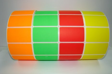 1 Roll RED ONLY 2.5x1.5 Thermal Transfer 2500 labels per roll 3
