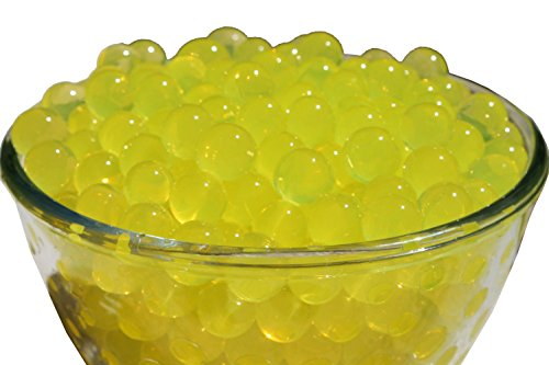 SHEING 5000-Piece Transparent Reusable Water Beads Gel, Yellow (Vase Ornaments)