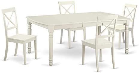 DOBO5-LWH-W 5 Pc dinette set -Kitchen Table and 4 Dining Chairs