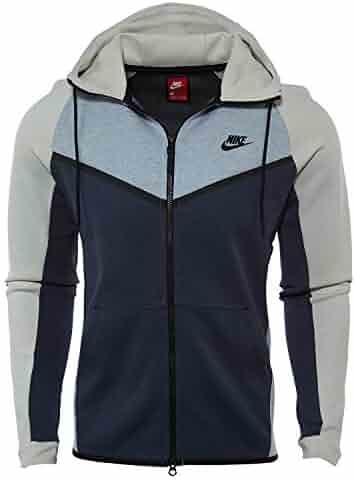 new concept 0a16c b1b29 Nike Mens Tech Fleece Hooded Windrunner Glacier Grey Light Bone Black  885904-023