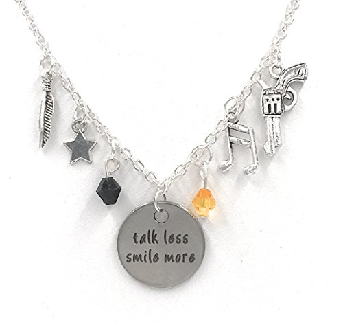 Hamilton Broadway Musical Charm Necklaces: Rise Up, Talk Less Smile More (Talk Less Smile More) (Up Necklace)
