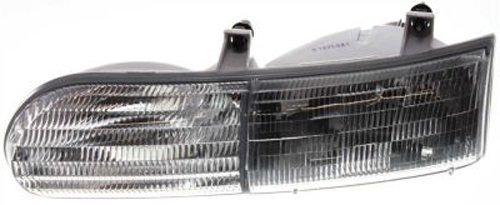 Crash Parts Plus Left Driver Side Headlight Head Lamp for 1992-1995 Ford Taurus