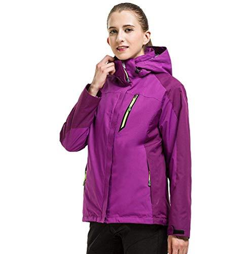 Unisexe Alpinisme Fleece Outdoor Hiver Vestes Couleur Sportswear Imperméable Randonnée Violet femme Veste Camping Zhrui Taille M Voyage Hooded Softshell dIw8x8Cq