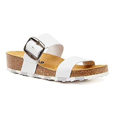 CCILU Horizon Olga White Sandals