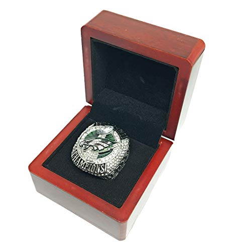 - FanzRing 2017-2018 Philadelphia Eagles Super Bowl Trophy Champion Ring (11, Foles)