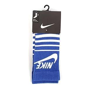 Nike HBR Men's Striped Crew Socks SB Blue Large