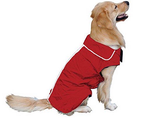 Hundemantel Regenmantel Hund Hundebekleidung Hundejacke Wintermantel Regenjacke-Rote (XL)
