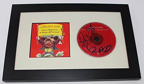 Collective Soul Band Group +3 Signed Autographed Music Cd Cover Insert Compact Disc Framed Display Loa