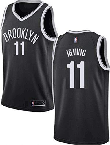 VF LSG Men's Brooklyn Nets #11 Kyrie Irving Jersey Black Swingman S