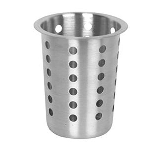 - Thunder Group Perforated Flatware Cylinder, Stainless Steel