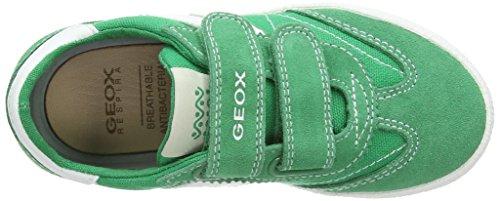 Geox Kiwi M - Zapatillas de sintético para niño (Multicolor (Green/Off White))